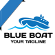 Blue Boat logo - GraphicRiver Item for Sale