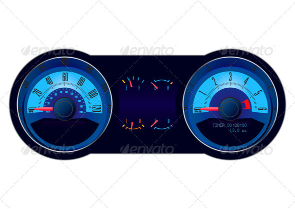 Graphic River Racing Car Speedometer Vectors -  Objects  Man-made objects 521584
