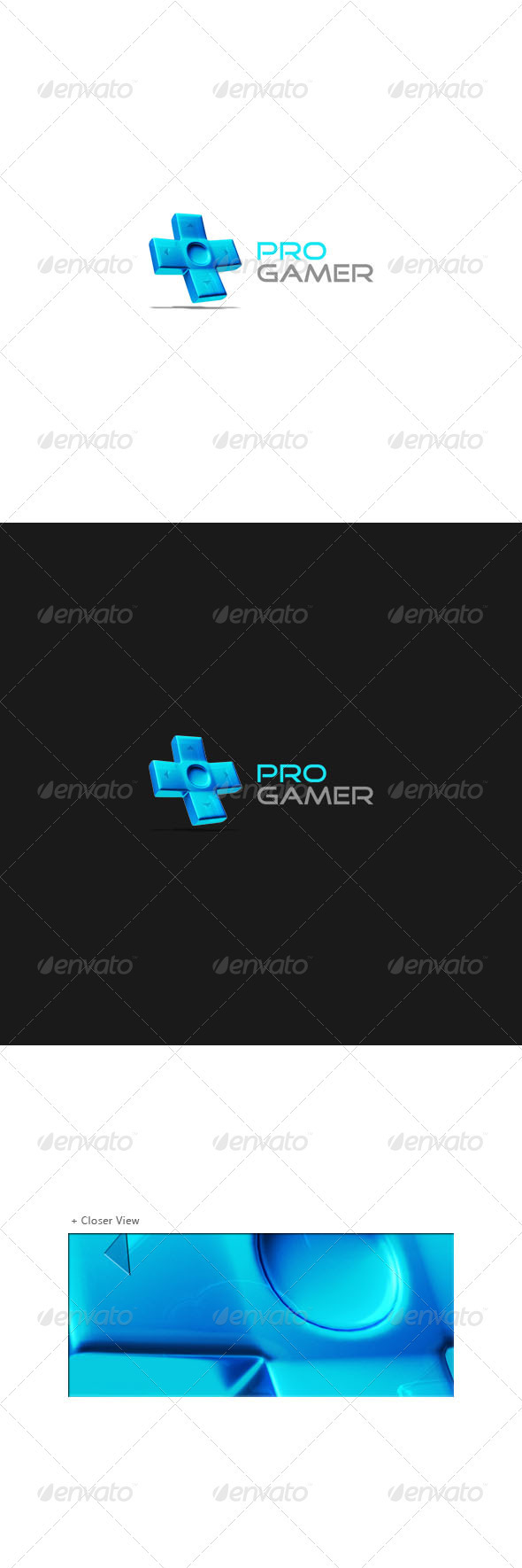 GraphicRiver Pro Gamer Logo Template 522110
