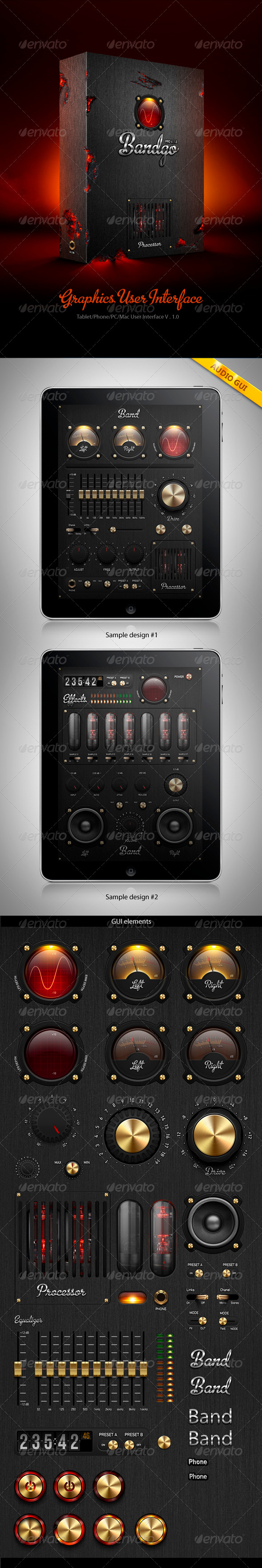 GraphicRiver Tablet Phone PC Mac User Interface Elements 522219