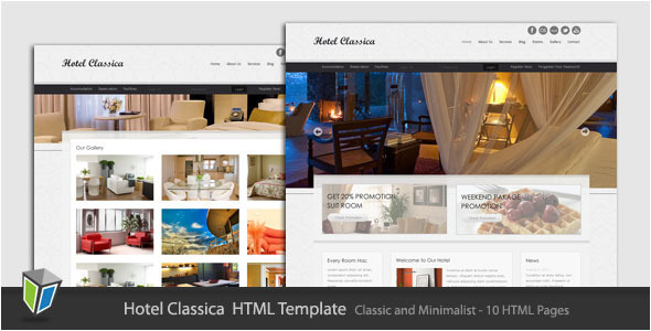 ThemeForest - Hotel Classica - Clean Minimalist HTML Template - RiP