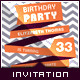 Birthday Retro/Vintage Invitation - Ribbon Message - GraphicRiver Item for Sale