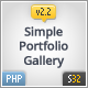 Simple Portfolio & Gallery Manager - PHP - CodeCanyon Item for Sale