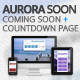 Aurora Soon - Coming Soon / Countdown Page - ThemeForest Item for Sale