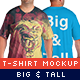 Big Size T-Shirt Mock-Up - GraphicRiver Item for Sale