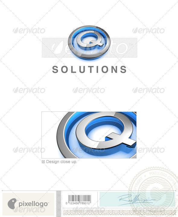 GraphicRiver Q Logo 3D-683-Q 524515
