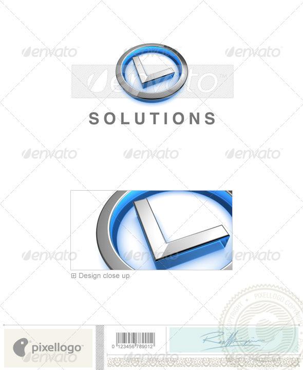 GraphicRiver L Logo 3D-683-L 524518