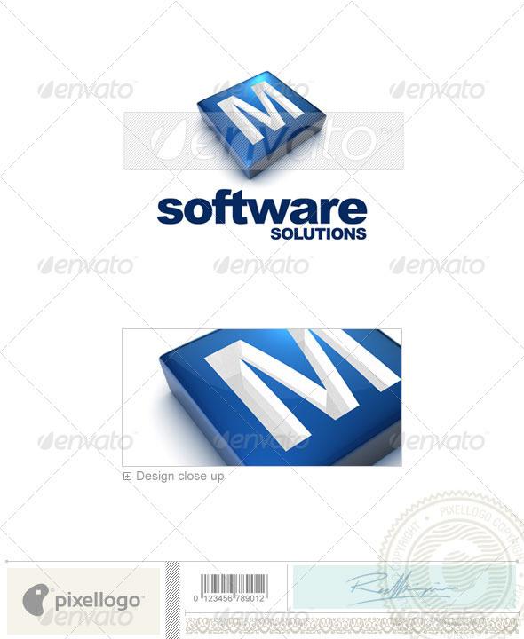 GraphicRiver M Logo 3D-644-M 524521