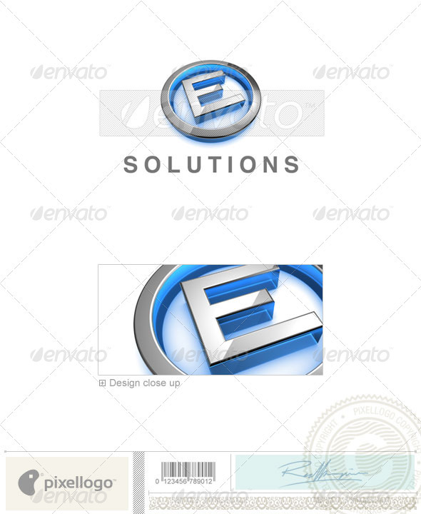 GraphicRiver E Logo 3D-683-E 524684