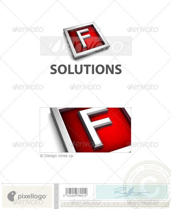 GraphicRiver F Logo 3D-549-F 524703