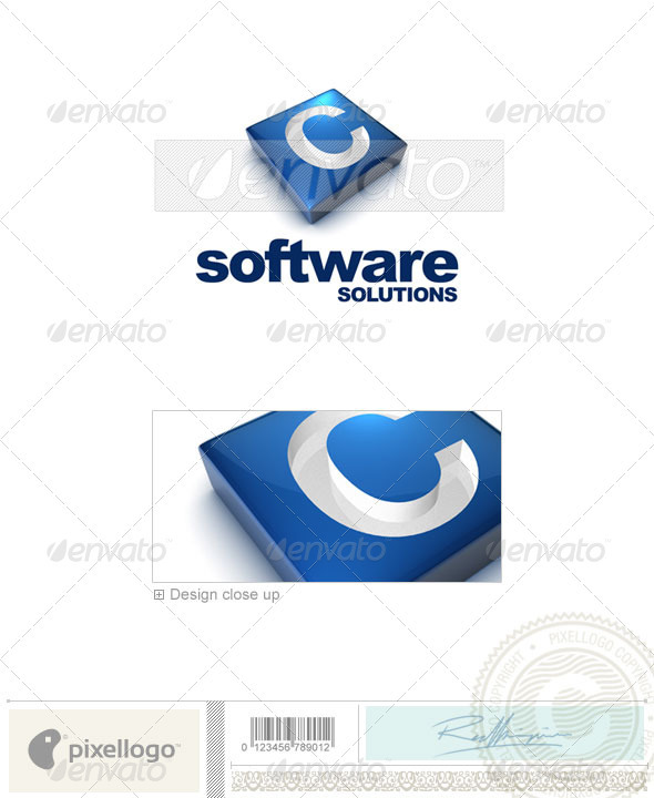GraphicRiver C Logo 3D-644-C 524750
