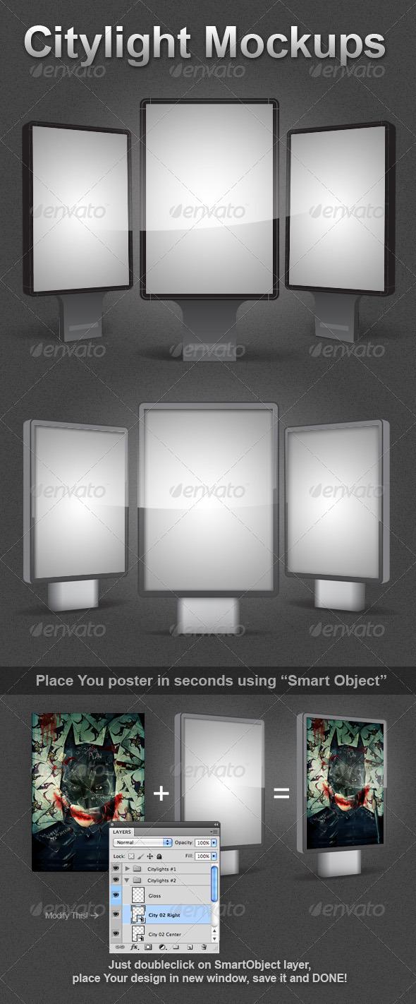 GraphicRiver 2 Citylight Mockups 515175