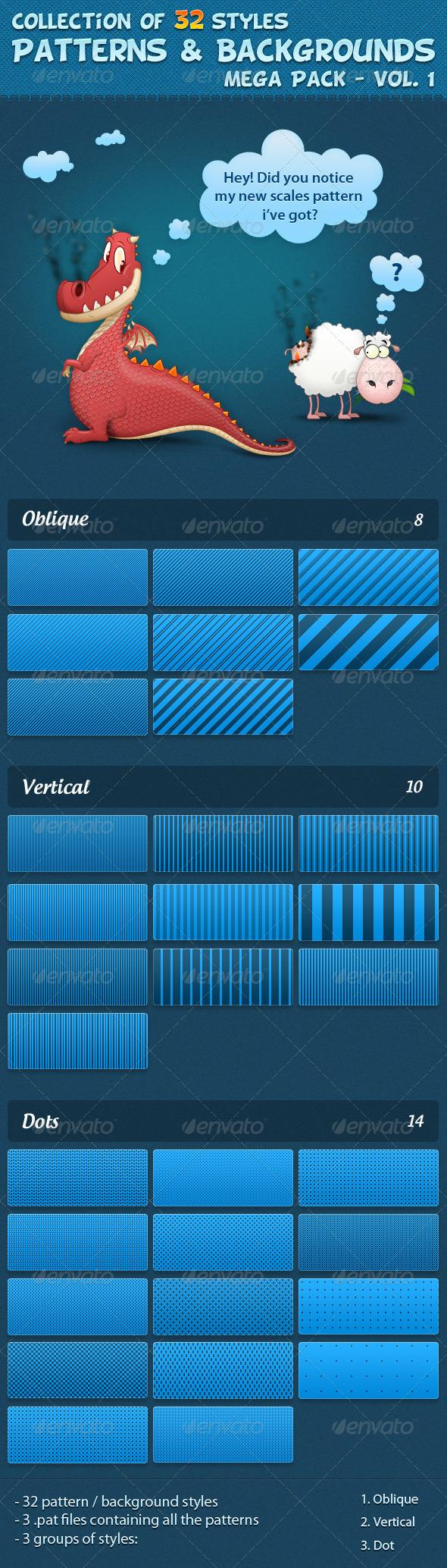 GraphicRiver Patterns vol 1 526387