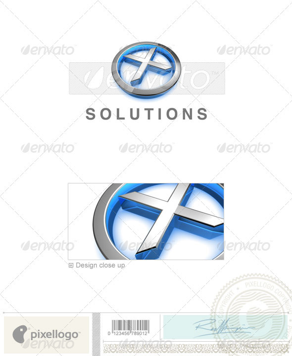 GraphicRiver X Logo 3D-683-X 526455