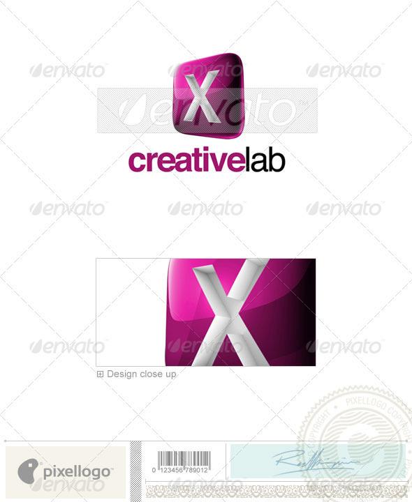 Graphic River X Logo 3D-687-X Logo Templates -  Letters 526504