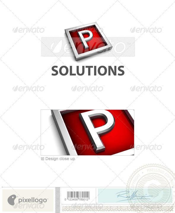 GraphicRiver P Logo 3D-549-P 526514