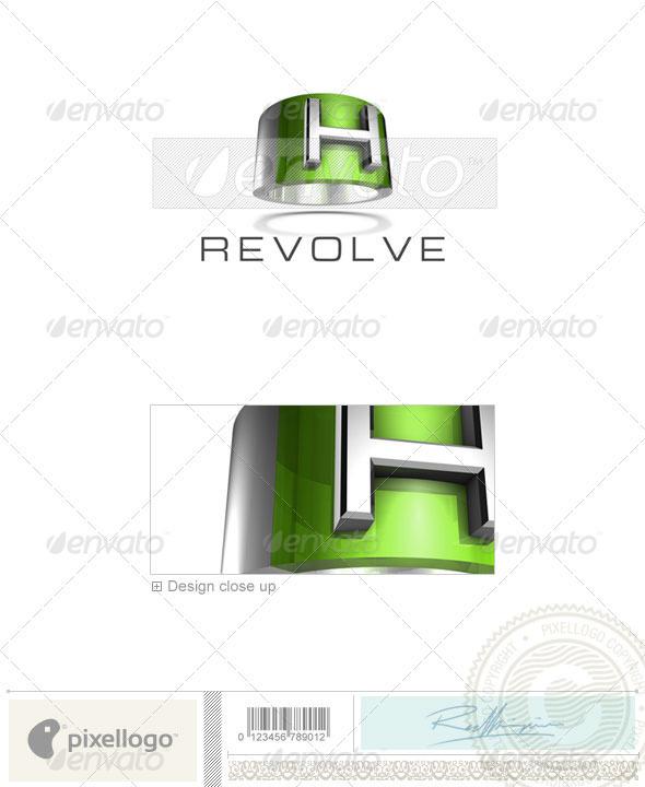 GraphicRiver H Logo 3D-547-H 526525