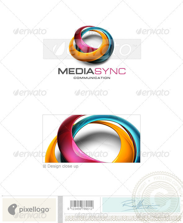 GraphicRiver Communications Logo 3D-539 526533