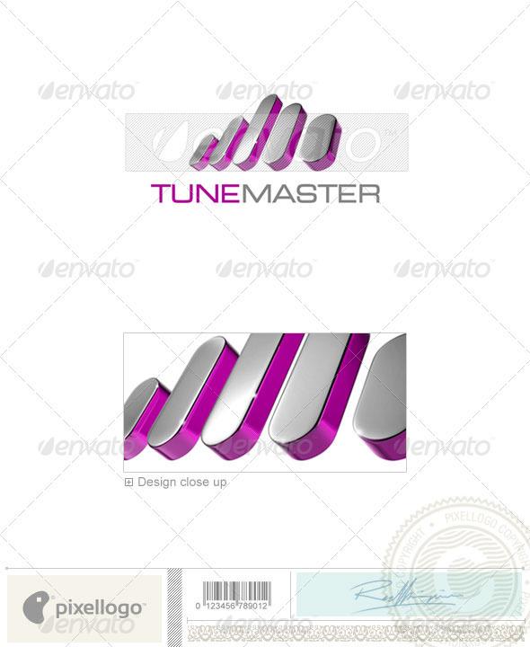GraphicRiver Music Logo 3D-712 526554