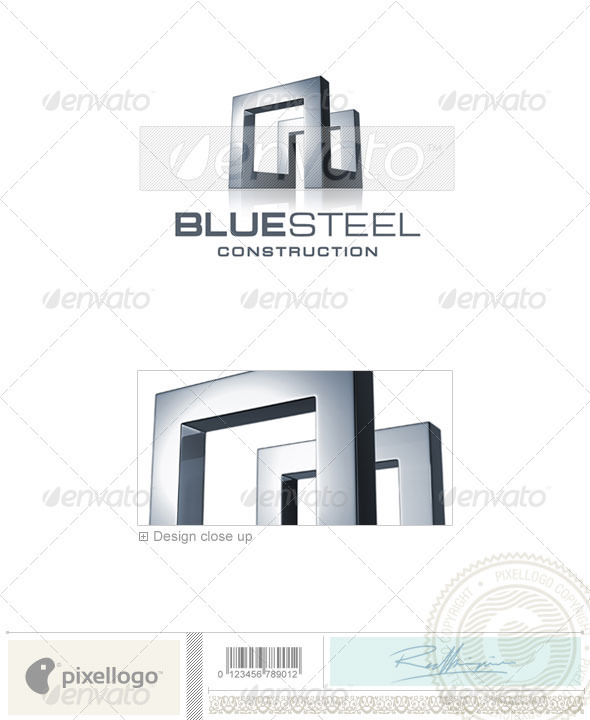 GraphicRiver Home & Office Logo 3D-668 526575