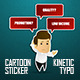 Corporate Sticker Cartoon with Kinetic Typo - VideoHive Item for Sale