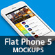 Flat Phone 5 Mock Up - GraphicRiver Item for Sale