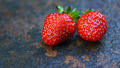 Two Strawberries on Stone - PhotoDune Item for Sale