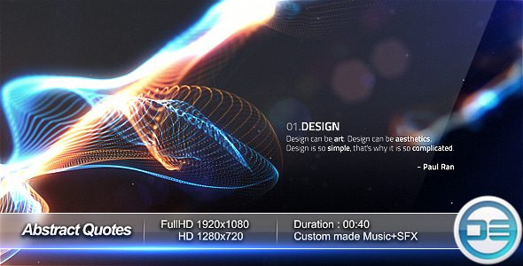 After Effects Project - VideoHive Abstract Quotes 526818