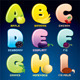 Fruits and Berries in Alphabetical Order - GraphicRiver Item for Sale