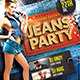 Jeans Party Flyer Template - GraphicRiver Item for Sale