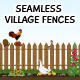 Seamless Village Fences - GraphicRiver Item for Sale