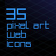 35 Pixel-Art Web Icons - GraphicRiver Item for Sale