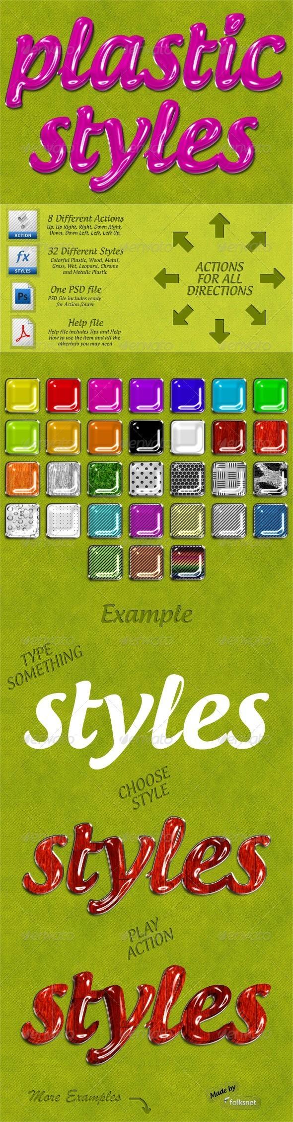 GraphicRiver Plastic Styles 530955