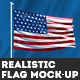 Realistic Flag Mock-Up - GraphicRiver Item for Sale