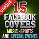 15 Facebook Covers - Music, Sports, Special Events - GraphicRiver Item for Sale
