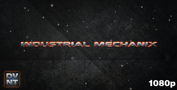 After Effects Project - VideoHive Industrial Mechanix Video display 532007