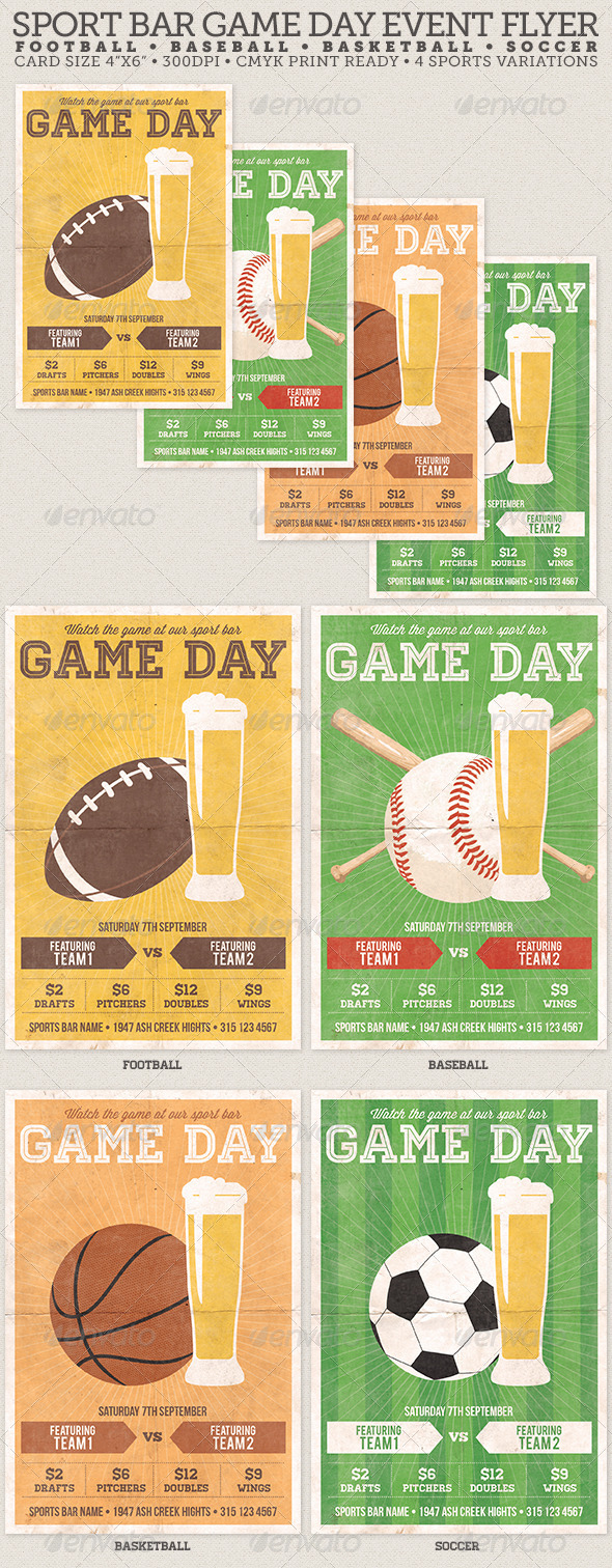 sports day poster template - free psd club events or bottle service specials