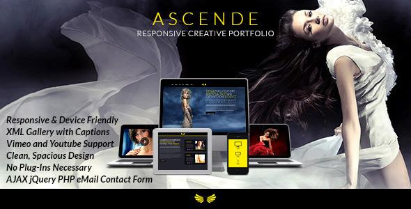 Ascende Responsive Photo & Video Portfolio Gallery (Portfolio