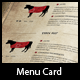 Steakhouse Menu Card in Western Style - GraphicRiver Item for Sale