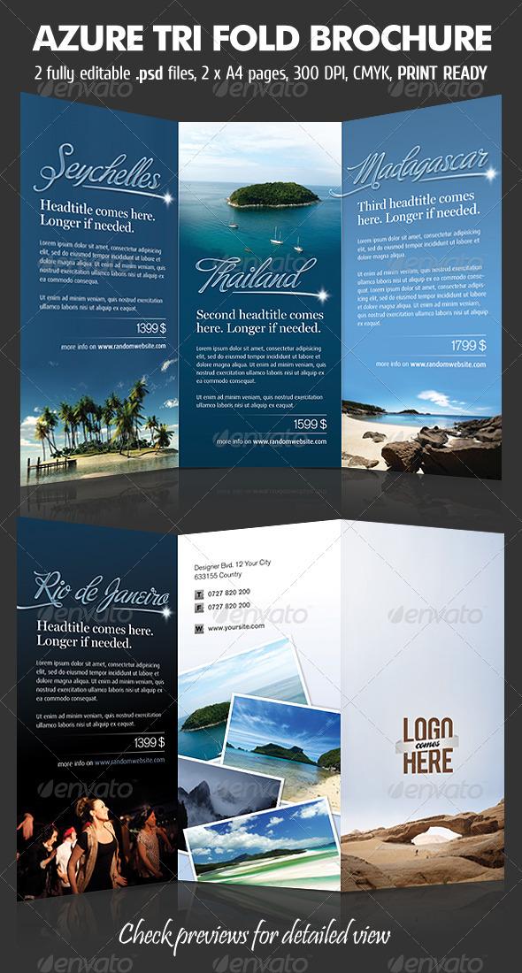 GraphicRiver Azure TriFold Brochure 532671