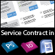 Clean Creative Service Contract for your Business - GraphicRiver Item for Sale