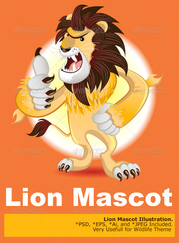 GraphicRiver Lion King of Beast Mascot 5189981