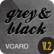 Grey & Black - Stylish Online vCard Html Template - ThemeForest Item for Sale