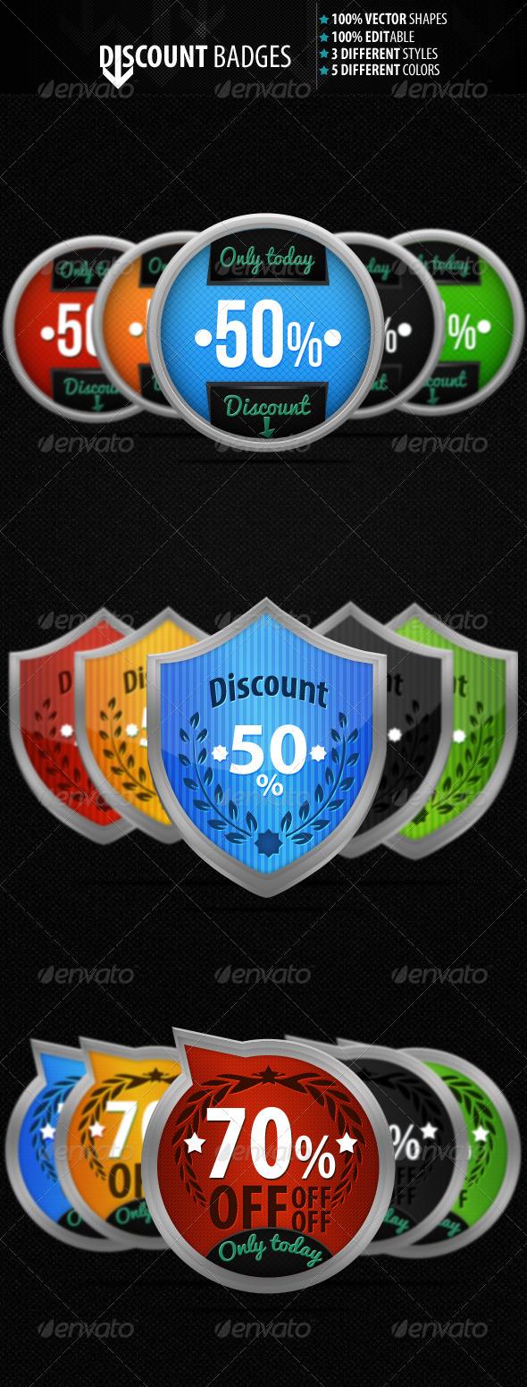 GraphicRiver Discount Badges 533932