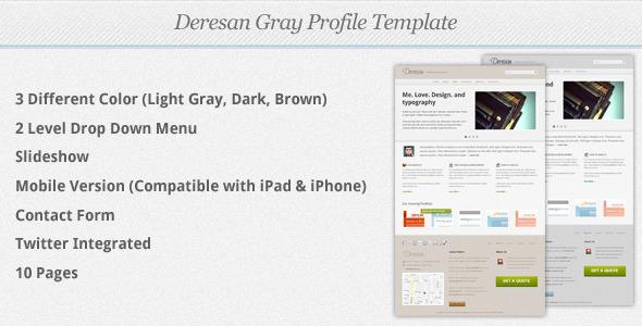 ThemeForest - Deresan Gray Profile Template - RiP