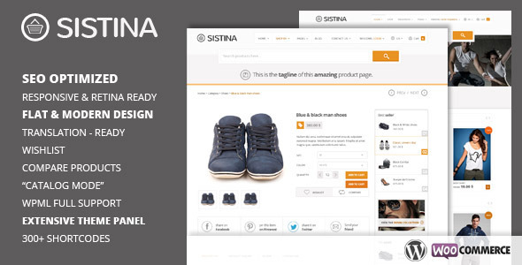 Theme de WordPress Estilo Flat: Sistina