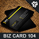 Business Card Design 104 - GraphicRiver Item for Sale