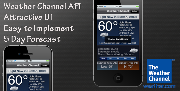 CodeCanyon Weather Channel API Interface 537088