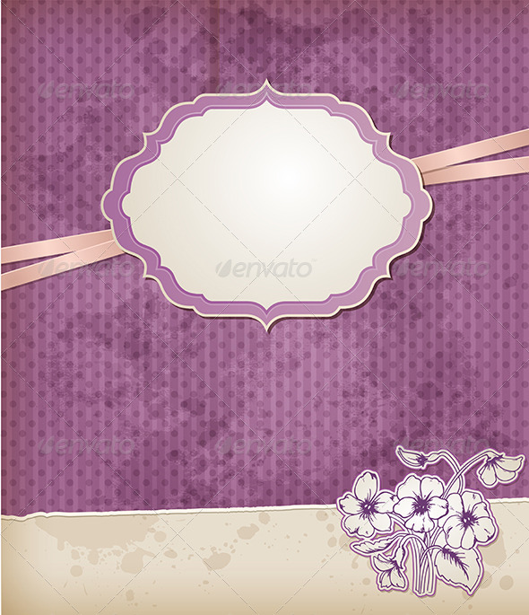 GraphicRiver Background with Violet Flowers 5223377