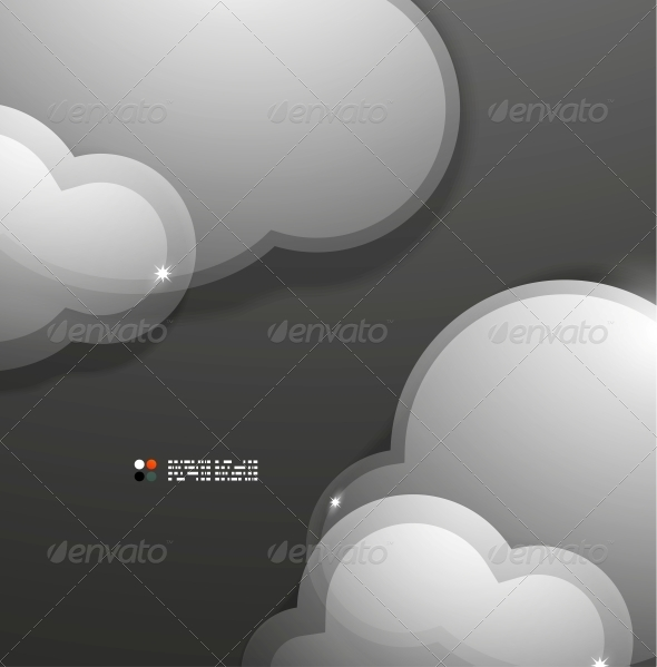 cloud template with lines - glass lines